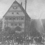 Historie 9 - Feuerwehrübung am Alten Schulhaus von 1928